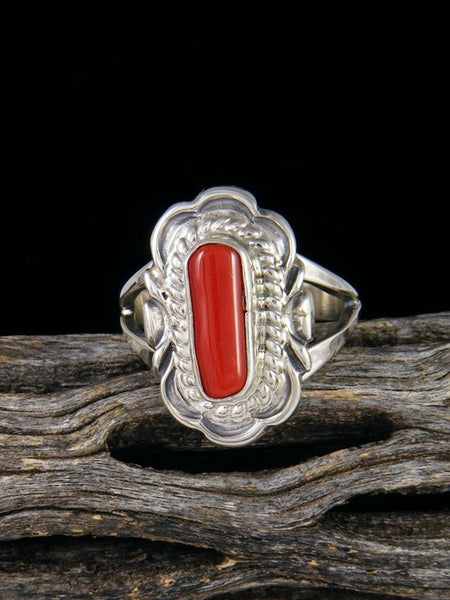 Coral Ring, Size 7 1/2