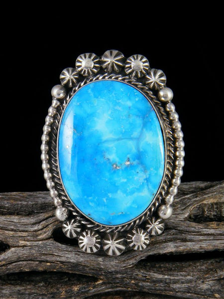 Sonoran Rose Turquoise Ring, Size 9 1/2