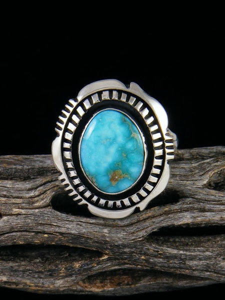 Whitewater Turquoise Ring, Size 9