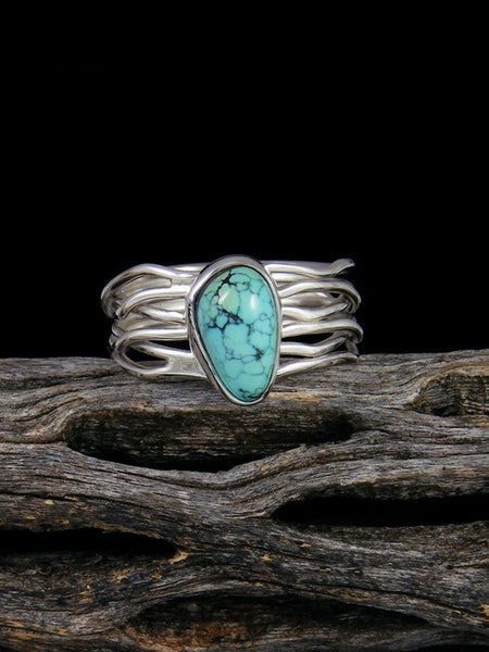 Blue Moon Turquoise Ring, Size 7
