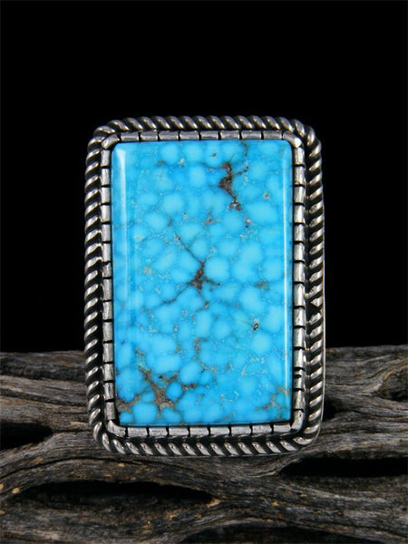 Natural Kingman Turquoise Ring, Size 8