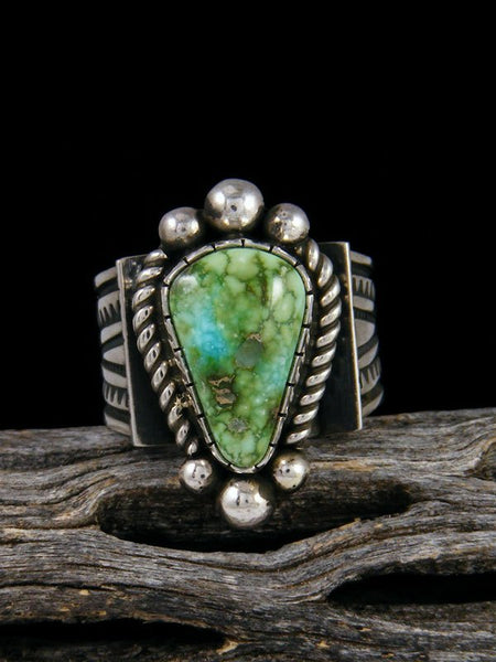 Sonoran Gold Sterling Silver Turquoise Ring, Size 8 1/2
