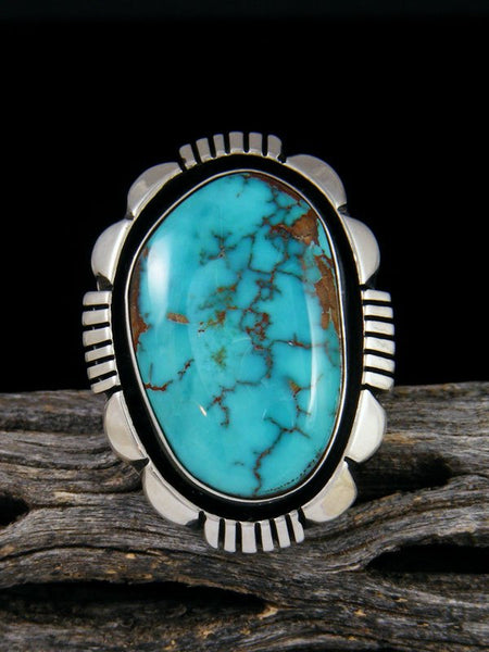 Natural Royston Turquoise Ring, Size 7 1/2