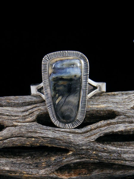 Native American Fossilized Mammoth Tooth Ring, Size 9