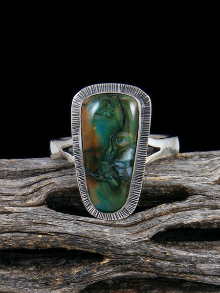Native American Fossilized Mammoth Tooth Ring, Size 8