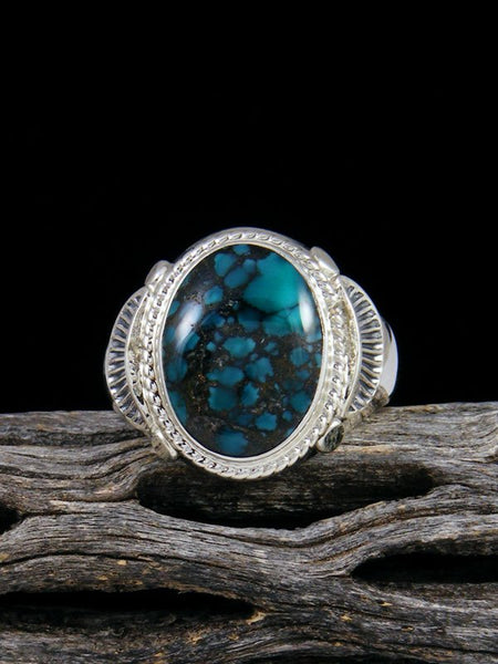 Cloud Mountain Turquoise Ring, Size 10