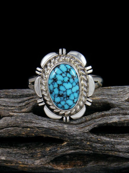 Native American Kingman Turquoise Ring, Size 9 1/2