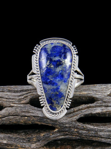 Native American Lapis Ring, Size 7