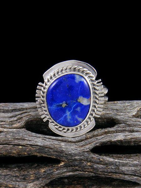 Native American Lapis Ring, Size 6