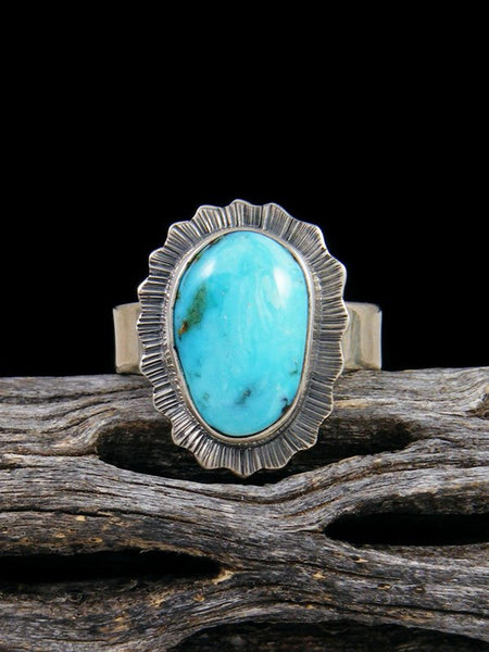 Native American Turquoise Mountain Ring, Size 7
