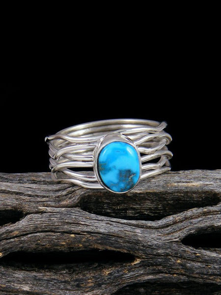 Sleeping Beauty Turquoise Ring, Size 7 1/4