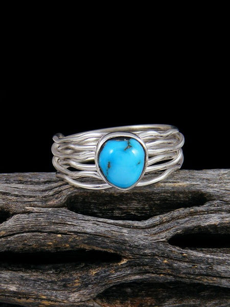 Sleeping Beauty Turquoise Ring, Size 8