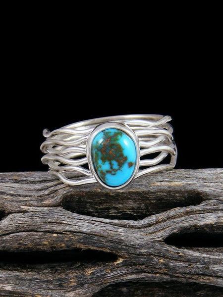 Sleeping Beauty Turquoise Ring, Size 9