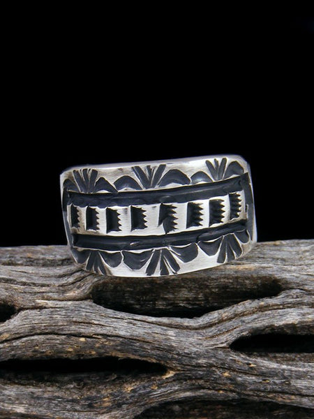 Navajo Sterling Silver Ring, Size 8