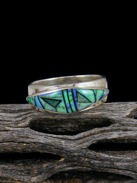 Navajo Monarch Opal Inlay Ring, Size 10 1/2