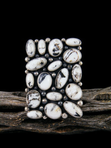 White Buffalo Cluster Ring, Size 11 1/2