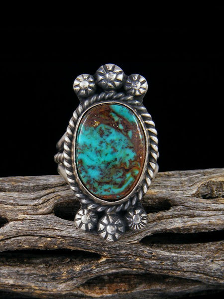 Turquoise Sterling Silver Ring, Size 7
