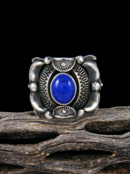 Navajo Lapis Sterling Silver Ring Size 10