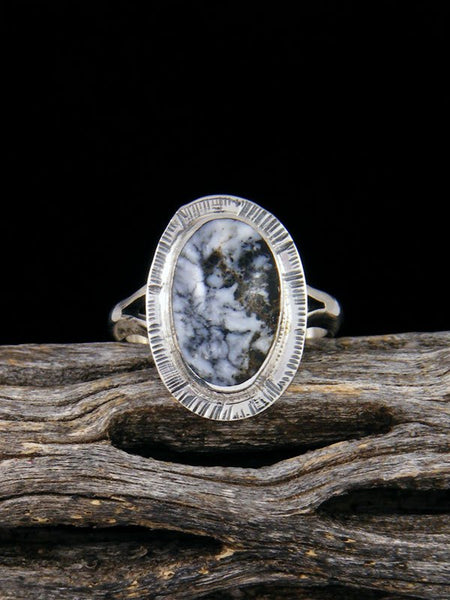 White Buffalo Ring, Size 5 1/2