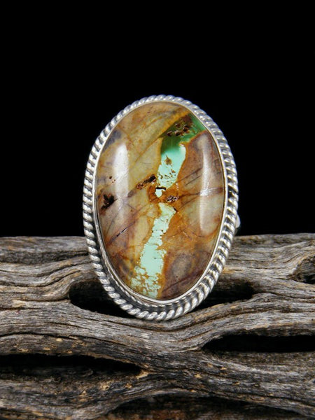Navajo Boulder Turquoise Ring, Size 6