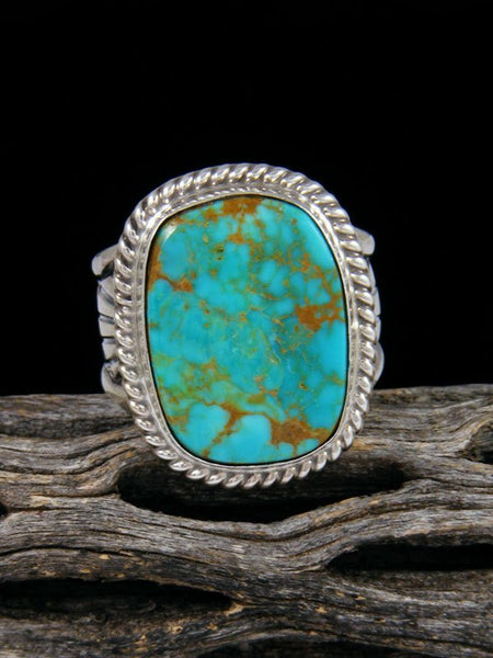Navajo Turquoise Ring, Size 10