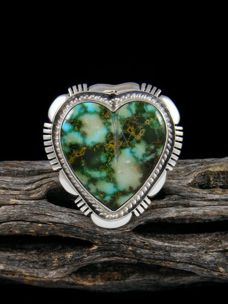 Kingman Heart Turquoise Ring, Size 7