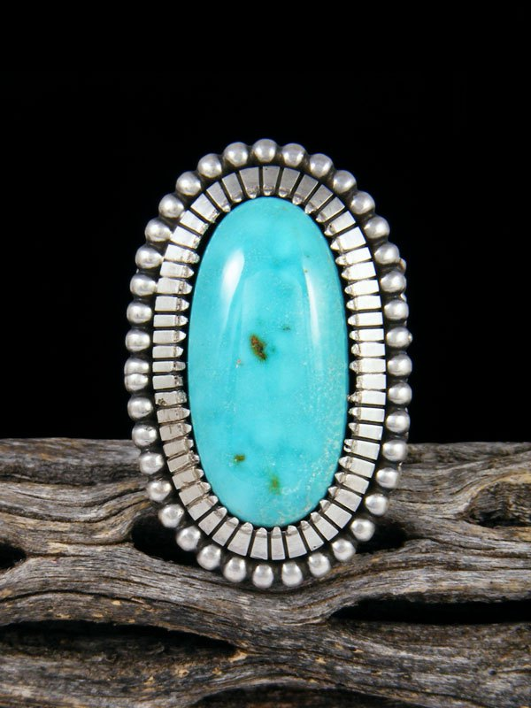 Native American Turquoise Ring, Size 8 1/2
