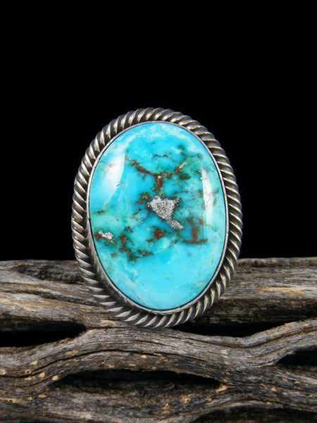 Native American Turquoise Ring, Size 9