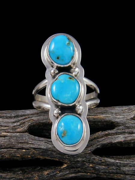 Blue Bird Turquoise Ring, Size 6