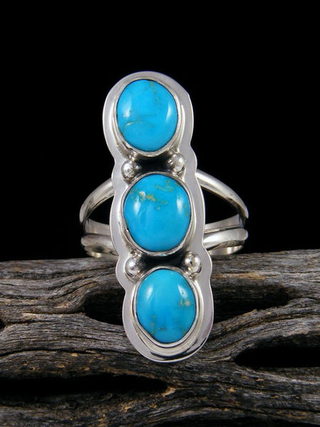 Blue Bird Turquoise Ring, Size 6 1/2