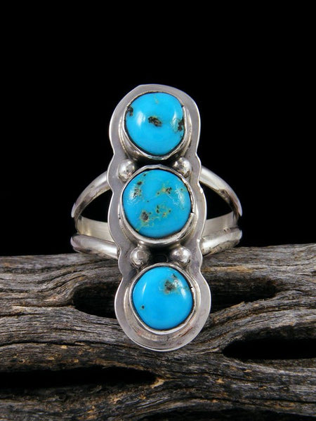 Blue Bird Turquoise Ring, Size 8