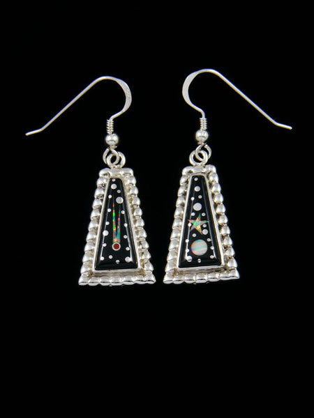 Native American Inlay Night Sky Dangle Earrings