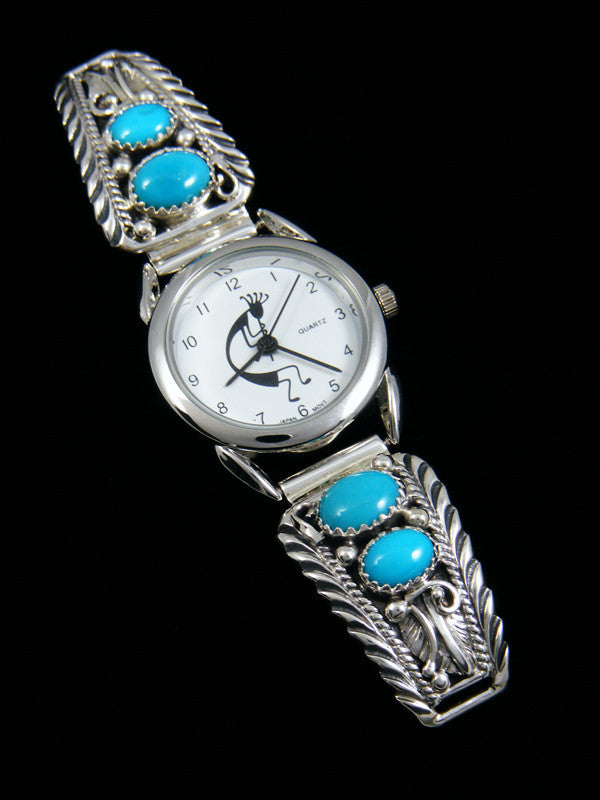 Native American Sterling Silver Turquoise Ladies' Watch