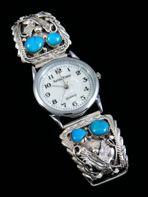 Native American Indian Jewelry Turquoise Eagle Men's Watch