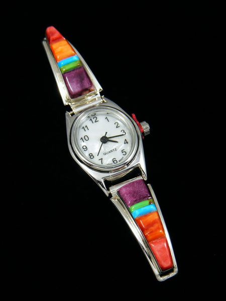 Native American Jewelry Multi-Stone Inlay Ladies' Watch
