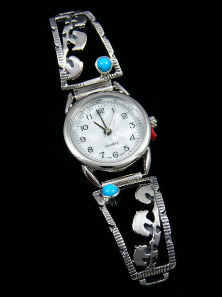 Native American Indian Turquoise Bear Ladies' Watch