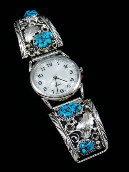Native American Indian Jewelry Turquoise Men's Watch