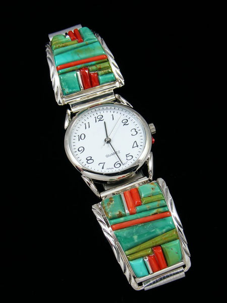 Native American Indian Jewelry Inlay Men's Watch