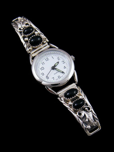 Native American Indian Onyx Ladies' Watch