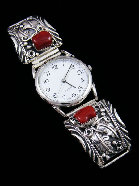 Native American Indian Jewelry Sterling Silver Men's Watch