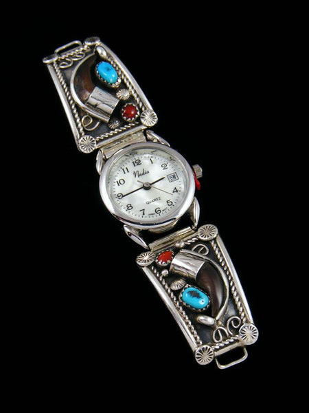 Native American Indian Jewelry Sterling Silver Claw Ladies' Watch