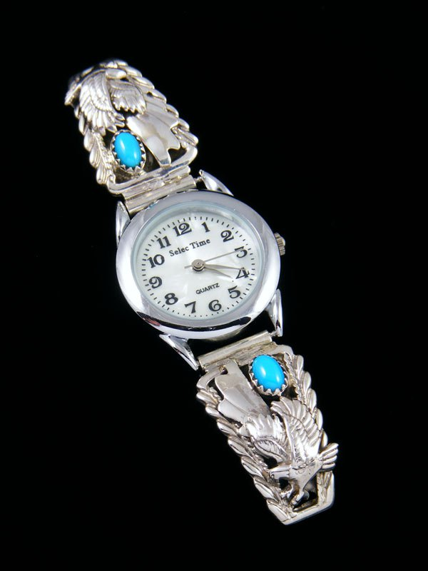 Native American Indian Turquoise Eagle Ladies' Watch