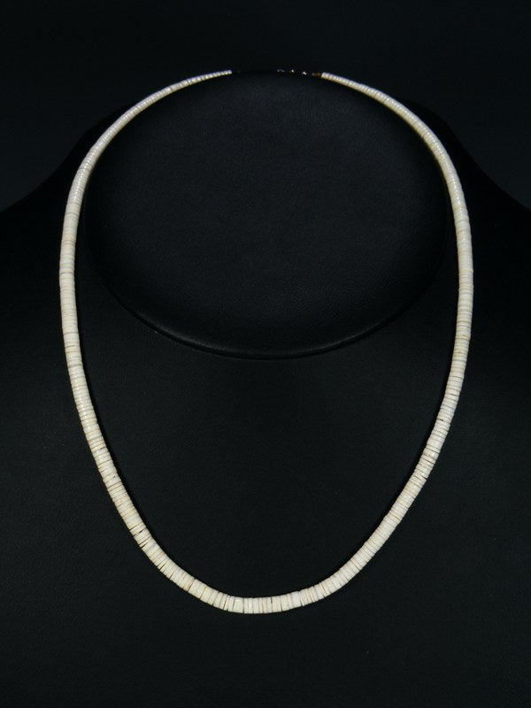 Native American White Shell Heishi Necklace