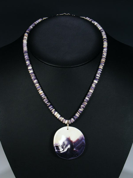 Santo Domingo Purple Shell Necklace