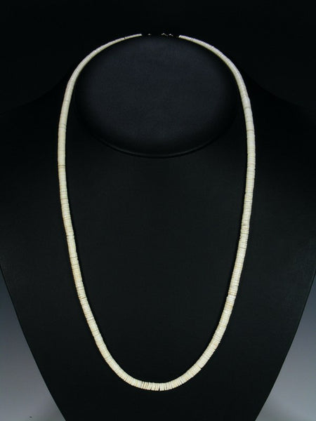 Santo Domingo Single Strand White Shell Necklace