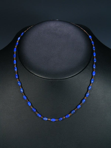 Native American Lapis and Heishi Single Strand Necklace