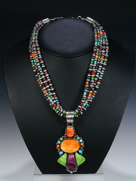 Native American Spiny Oyster and Turquoise Necklace Set
