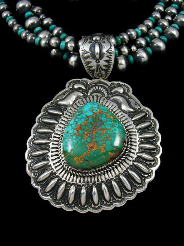 Native american natural royston turquoise necklace set by darryl native american natural royston turquoise necklace set aloadofball Choice Image