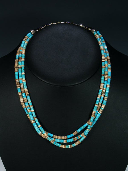 Native American Multi Strand Turquoise Necklace
