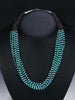 Native American  Santo Domingo Turquoise Necklace by Josephine Coriz - PuebloDirect.com - 1
